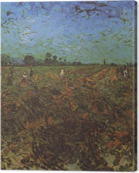 Obraz na płótnie Vincent van Gogh - Zielona winnica - Reproductions