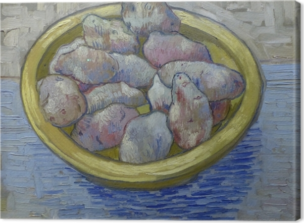 Obraz na płótnie Vincent van Gogh - Ziemniaki w żółtym naczyniu - Reproductions