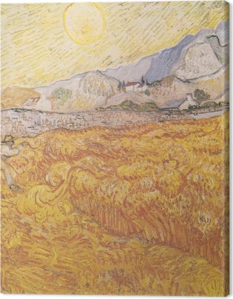 Obraz na płótnie Vincent van Gogh - Żniwa - Reproductions