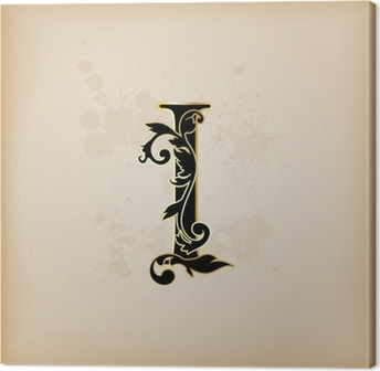 Poster Jahrgang Initialen Buchstaben I Pixers Wir Leben Um Zu