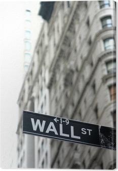 Obraz na płótnie Wall street znak