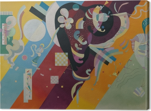 Obraz na płótnie Wassily Kandinsky - Kompozycja X - Reprodukcje