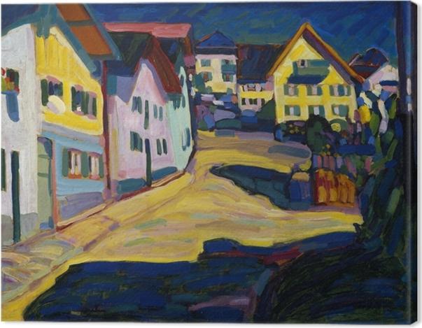 Obraz na płótnie Wassily Kandinsky - Murnau Burggrabenstrasse - Reprodukcje