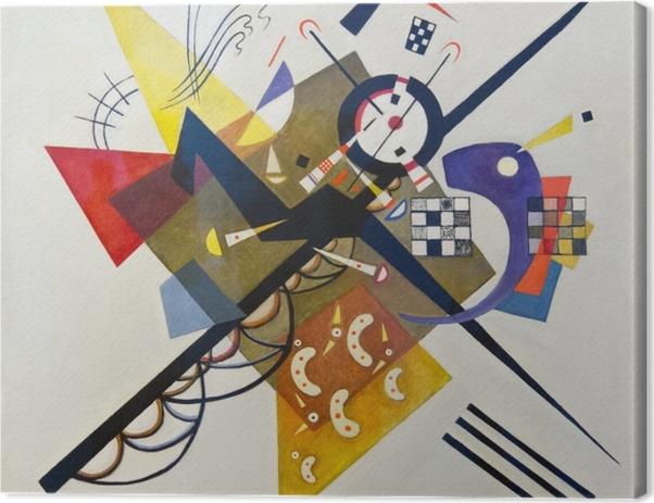 Obraz na płótnie Wassily Kandinsky - Na białym tle II - Reprodukcje