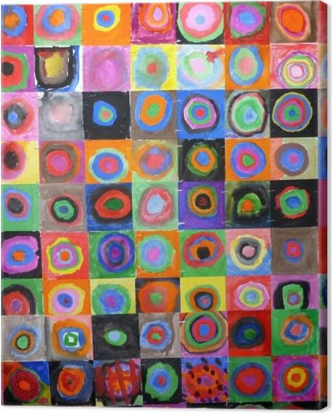 Obraz na płótnie Wassily Kandinsky - Studium koloru, kwadrat z koncentrycznymi kręgami - Reprodukcje