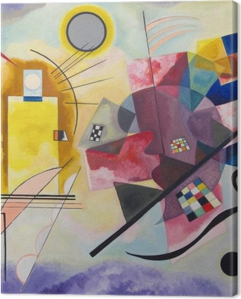 Obraz na płótnie Wassily Kandinsky - Żółty czerwony niebieski - Reprodukcje