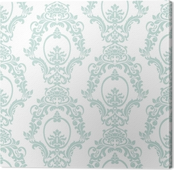 Obraz na płótnie Wektor wzór adamaszku ornament w stylu imperialnym. ozdobny kwiatowy element na tkaniny, tekstylia, projektowanie, zaproszenia ślubne, karty z pozdrowieniami, tapety. opalowy kolor niebieski
