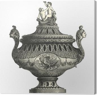 Obraz na płótnie Wiadra wazy fajansowe XVIII wieku