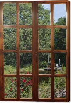 Obraz na płótnie Widok na ogród