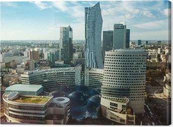 Obraz na płótnie Widok w Warszawie
