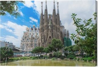 Obraz na płótnie Widok z kościoła Sagrada Familia w Barcelonie. Hiszpania