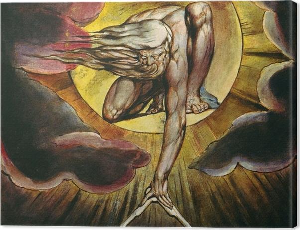 Obraz na płótnie William Blake - Bóg jako architekt - Reprodukcje