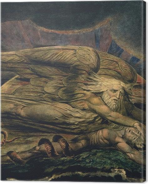 Obraz na płótnie William Blake - Elochim stwarzający Adama - Reprodukcje