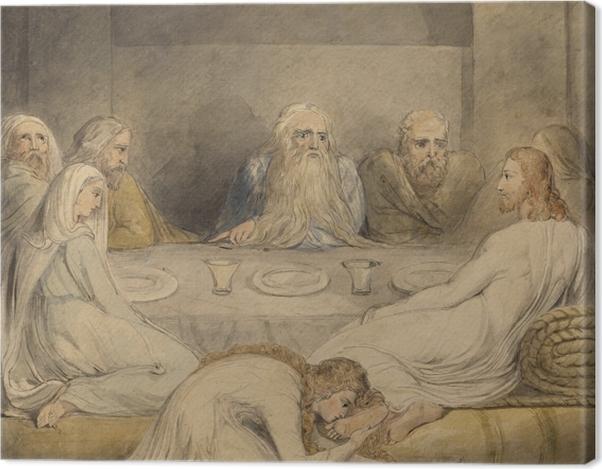 Obraz na płótnie William Blake - Jawnogrzesznica namaszcza nogi Jezusowi - Reprodukcje