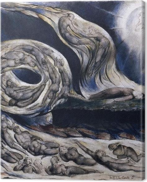 Obraz na płótnie William Blake - Wir kochanków - Reprodukcje