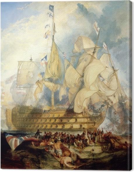 Obraz na płótnie William Turner - Bitwa pod Trafalgarem - Reprodukcje