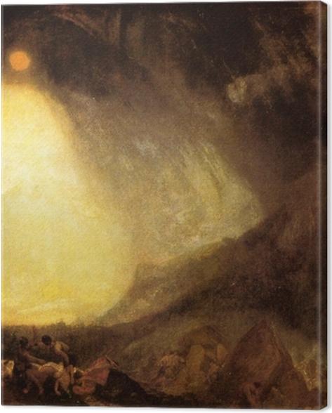 Obraz na płótnie William Turner - Burza śnieżna: armia Hannibala przekraczająca Alpy - Reprodukcje