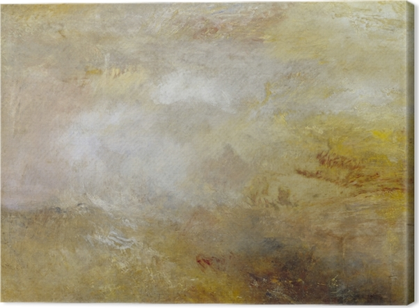 Obraz na płótnie William Turner - Burzliwe morze z delfinami - Reprodukcje