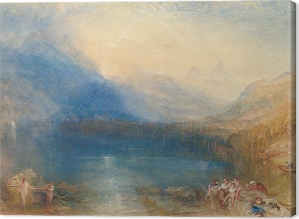 Obraz na płótnie William Turner - Jezioro Zug wczesnym rankiem - Reprodukcje