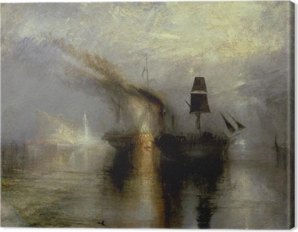 Obraz na płótnie William Turner - Morski pogrzeb - Reprodukcje