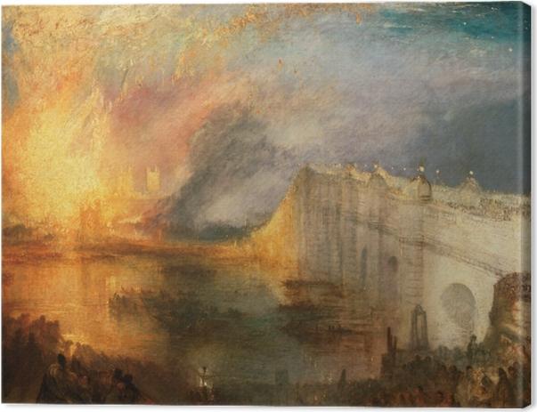 Obraz na płótnie William Turner - Pożar Izby Lordów i Izby Gmin - Reprodukcje