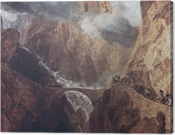 Obraz na płótnie William Turner - Przełęcz św. Gottharda - Reprodukcje
