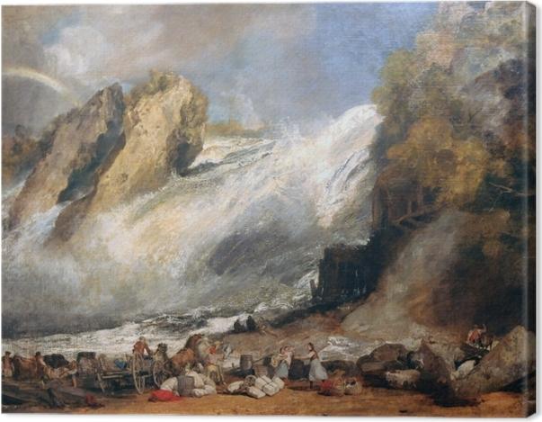 Obraz na płótnie William Turner - Rheinfall w Schaffhausen - Reprodukcje