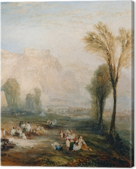 Obraz na płótnie William Turner - The Bright Stone of Honor (Ehrenbreitstein) and Tomb of Marceau from Byron's 'Childe Harold - Reprodukcje