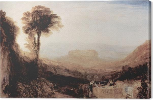 Obraz na płótnie William Turner - Widok Orvieto namalowany w Rzymie - Reprodukcje