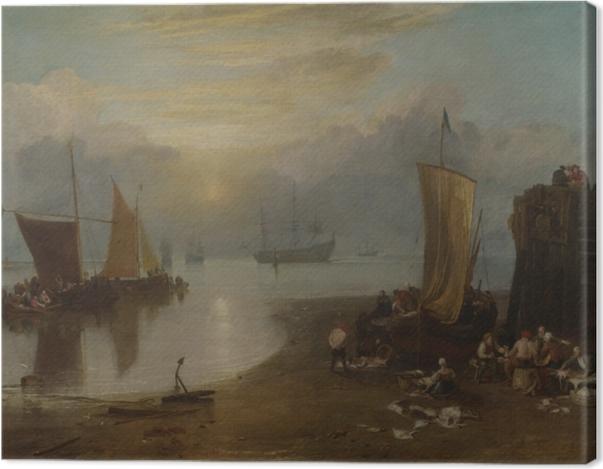 Obraz na płótnie William Turner - Wschód słońca we mgle - Reprodukcje