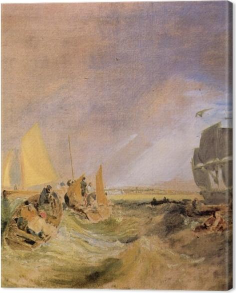 Obraz na płótnie William Turner - Żegluga w ujściu Tamizy - Reprodukcje