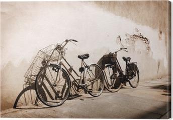 Obraz na płótnie Włoski rowery starym stylu oparty o ścianę