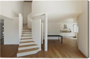 Obraz na płótnie Wnętrze nowoczesny dom, duża otwarta przestrzeń