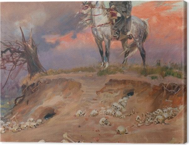 Obraz na płótnie Wojciech Kossak - Napoleon na polu bitwy - Reproductions