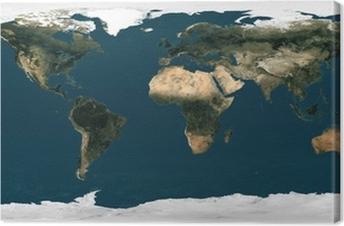 Obraz Na Plotnie Mapa Swiata Orbity Satelitarne Pixers Zyjemy