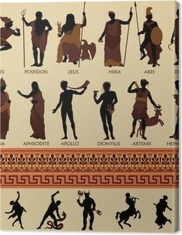 Obraz na płótnie Wszystkie 12 bogów greckich i mitologii