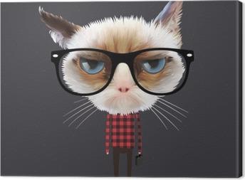 Obraz na płótnie Zabawny kot kreskówki, wektor eps10 ilustracji.