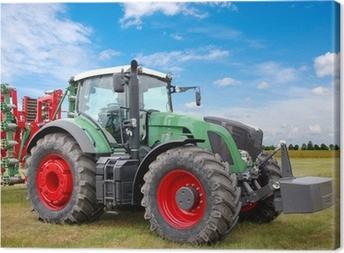 Obraz na płótnie Zielony traktor