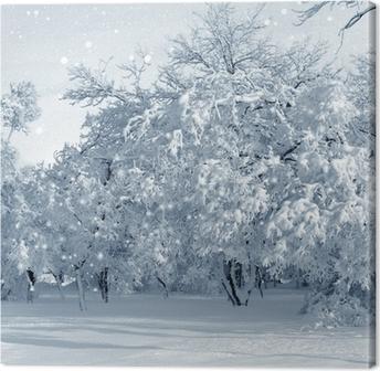 Obraz na płótnie Zimowa sceneria, śnieżyca