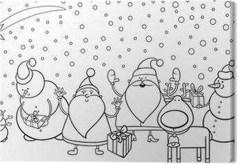 Obraz na płótnie Znaki Boże Narodzenie kolorowanki stronę