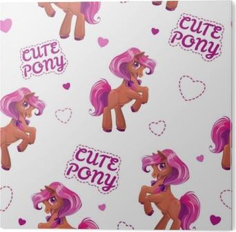 Plakát Bezešvé vzor s roztomilý kreslený malý kůň • Pixers® • Žijeme pro  změnu 2c460750989