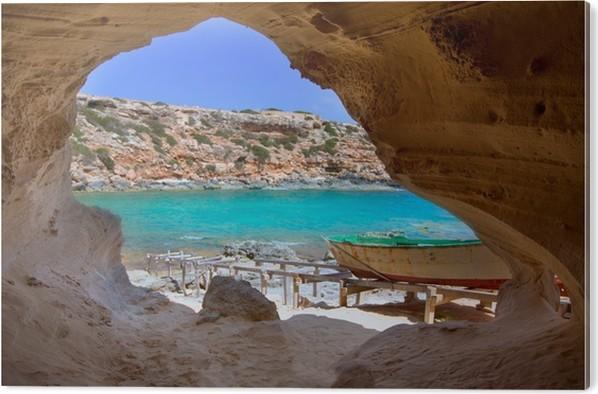 Obraz na PVC Formentera Cala en Baster na Baleárských ostrovech ve Španělsku - Témata