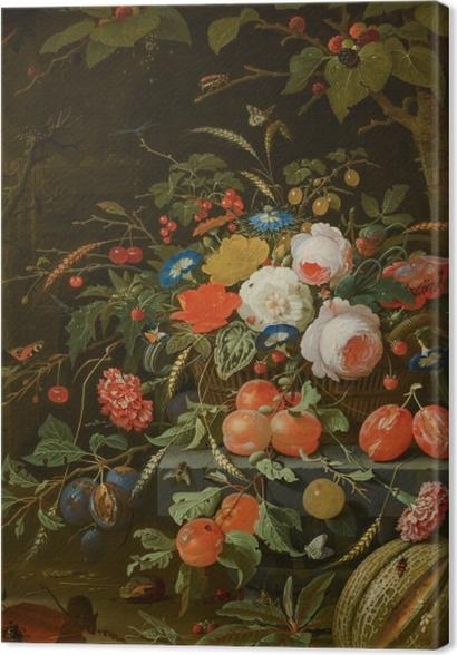 Obrazy premium Abraham Mignon - Flowers and Fruit - Reprodukcje