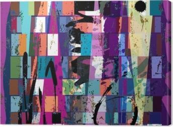 Obrazy premium Abstrakcyjne tło, z kwadratów, trójkąt, pociągnięć farby i s