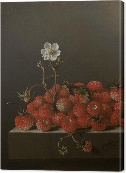 Obrazy premium Adriaen Coorte - Still Life with Wild Strawberries - Reprodukcje