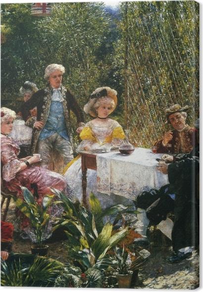 Obrazy premium Aleksander Gierymski - W altanie - Reproductions