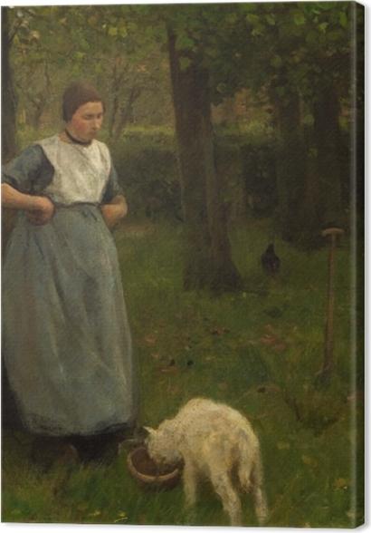 Obrazy premium Anton Mauve - Kobieta z Laren z owcą - Reproductions