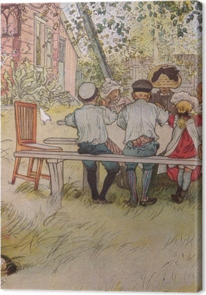 Obrazy premium Carl Larsson - Śniadanie pod wielką brzozą - Reproductions