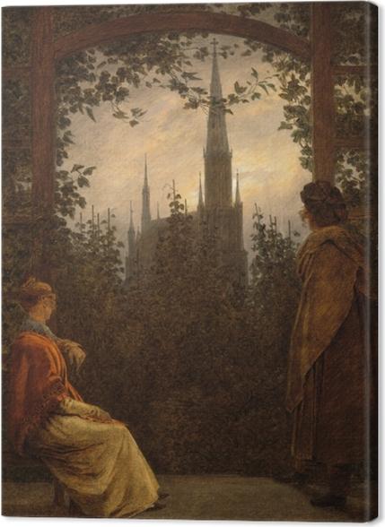 Obrazy premium Caspar David Friedrich - Altana w Greifswaldzie - Reproductions