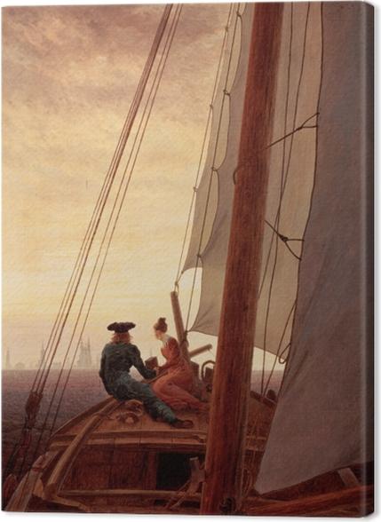 Obrazy premium Caspar David Friedrich - Na żaglowcu - Reproductions